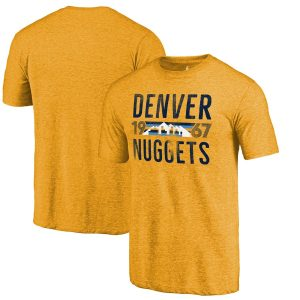 Denver Nuggets Fanatics Branded Mountain Range Hometown Collection Tri-Blend T-Shirt