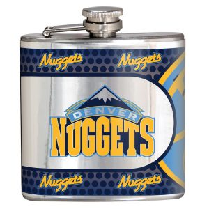 Denver Nuggets Silver 6oz. Stainless Steel Hip Flask