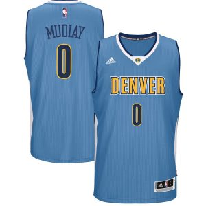 Men's Denver Nuggets Emmanuel Mudiay adidas Light Blue Road Swingman climacool Jersey