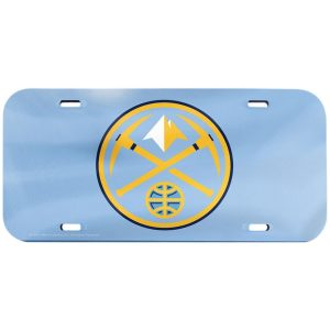 WinCraft Denver Nuggets Crystal Mirror License Plate