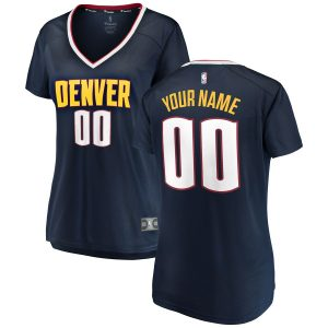 Women's Denver Nuggets Fanatics Branded Navy 2018/19 Fast Break Custom Replica Jersey – Icon Edition