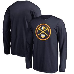 Youth Denver Nuggets Fanatics Branded Navy Primary Logo Long Sleeve T-Shirt