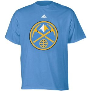 Youth Denver Nuggets adidas Light Blue Primary Logo T-Shirt