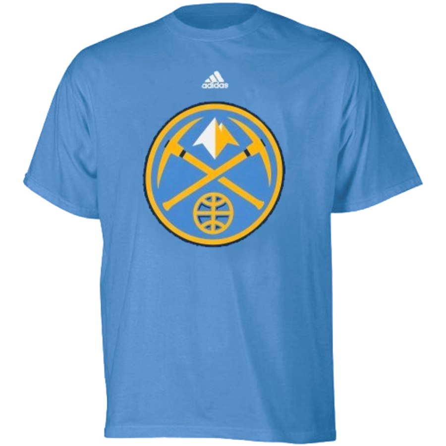 Youth Denver Nuggets Adidas Light Blue Primary Logo T