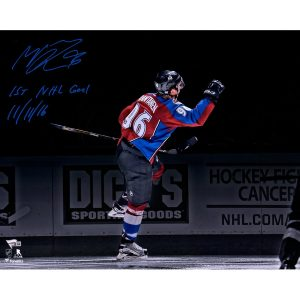 Autographed Colorado Avalanche Mikko Rantanen Fanatics Authentic 16″ x 20″ Goal Celebration Spotlight Photograph
