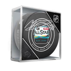 Autographed Colorado Avalanche Mikko Rantanen Fanatics Authentic 2019 NHL All-Star Game Official Game Puck
