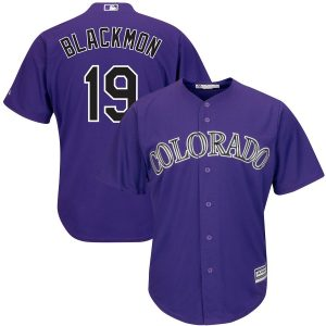 Charlie Blackmon Colorado Rockies Majestic Alternate Official Cool Base Replica Player Jersey – Purple