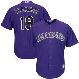 Charlie Blackmon Colorado Rockies Majestic Alternate Official Cool Base Replica Player Jersey – Purple