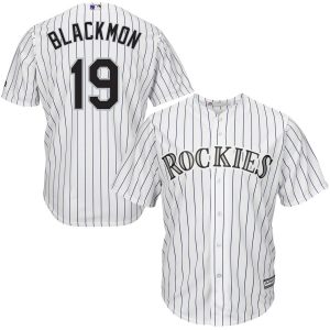 Charlie Blackmon Colorado Rockies Majestic Cool Base Player Jersey – White