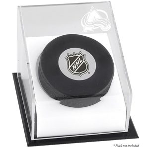 Colorado Avalanche Fanatics Authentic Puck Deluxe Logo Display Case