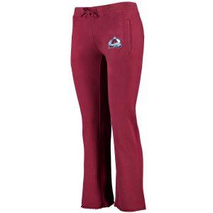 Colorado Avalanche Women's Burgundy Lefty Fleece Lounge Pants