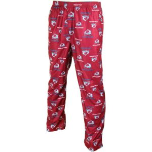 Colorado Avalanche Youth Team Logo Flannel Pajama Pants – Red
