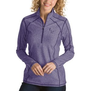 Colorado Rockies Antigua Women's Tempo Desert Dry 1/4-Zip Pullover Jacket