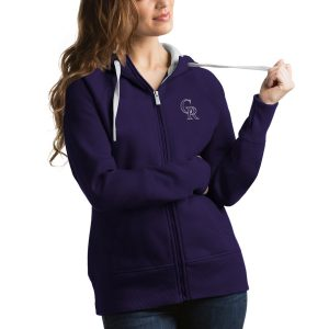 Colorado Rockies Antigua Women's Victory Full-Zip Hoodie