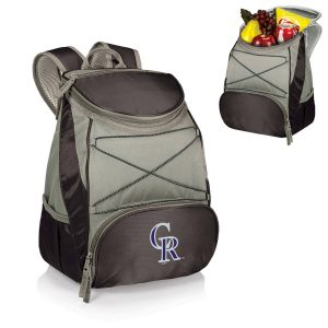 Colorado Rockies Black PTX Backpack Cooler