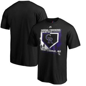 Colorado Rockies Majestic 2019 Spring Training Cactus League Base on Balls T-Shirt