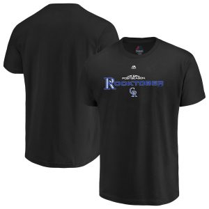 Colorado Rockies Majestic Youth 2018 Postseason Authentic Collection T-Shirt