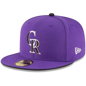 Colorado Rockies New Era Authentic Collection ON Field 59FIFTY Structured Hat – Purple