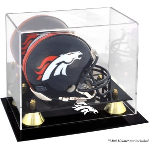 Denver Broncos Fanatics Authentic Golden Classic Mini Helmet Display Case