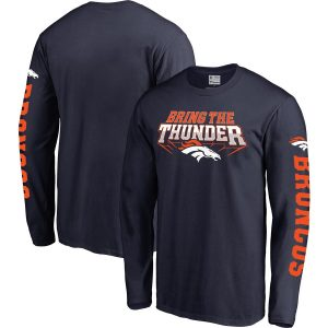 Denver Broncos NFL Pro Line Hometown Collection Long Sleeve T-Shirt – Navy