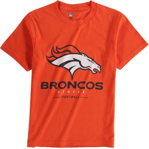 Denver Broncos NFL Pro Line Youth Team Lockup T-Shirt – Orange