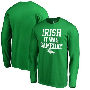 Denver Broncos NFL Pro Line by Fanatics Branded Irish Gameday Long Sleeve T-Shirt