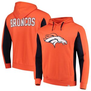 Denver Broncos NFL Pro Line by Fanatics Branded Team Iconic Pullover Hoodie