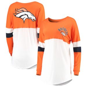 Denver Broncos New Era Women's Varsity Athletic Long Sleeve T-Shirt