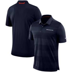 Denver Broncos Nike Sideline Early Season Wordmark Performance Polo – Navy