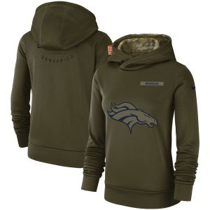 Denver Broncos Nike Women's Salute to Service Team Logo Performance Pullover Hoodie