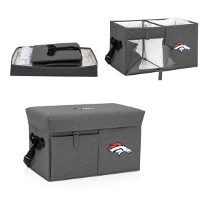 Denver Broncos Ottoman Cooler & Seat – Gray