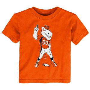 Denver Broncos Toddler Standing Team Mascot T-Shirt – Orange