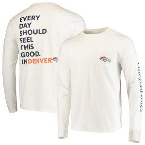 Denver Broncos Vineyard Vines Every Day Should Feel This Good T-Shirt – White