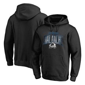 Colorado Avalanche Black Arch Smoke Pullover Hoodie