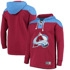 Fanatics Branded Colorado Avalanche Maroon/Blue Breakaway Lace Up Hoodie