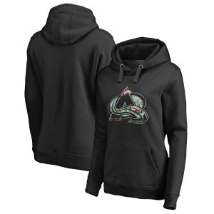 Fanatics Branded Colorado Avalanche Women's Black Lovely Pullover Hoodie