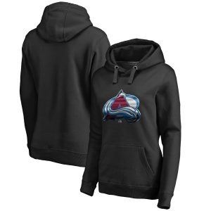 Fanatics Branded Colorado Avalanche Women's Black Midnight Mascot Pullover Hoodie
