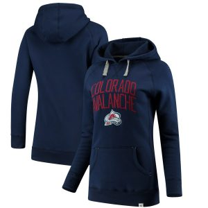 Fanatics Branded Colorado Avalanche Women's Navy Indestructible Pullover Hoodie