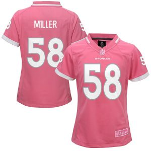 Girls Youth Denver Broncos Von Miller Pink Bubble Gum Jersey