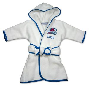 Infant Colorado Avalanche White Personalized Robe