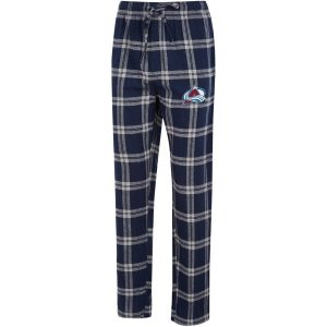 Men's Colorado Avalanche Concepts Sport Navy/Gray Homestretch Flannel Pants
