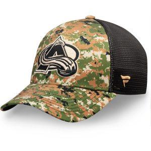 Men's Colorado Avalanche Fanatics Branded Camo Authentic Pro Military Appreciation Speed Flex Hat
