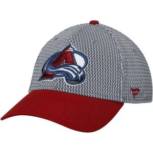 Men's Colorado Avalanche Fanatics Branded Gray/Burgundy Breakaway Flex Hat