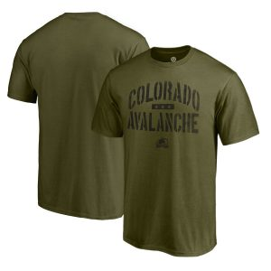 Men's Colorado Avalanche Fanatics Branded Green Camo Collection Jungle T-Shirt