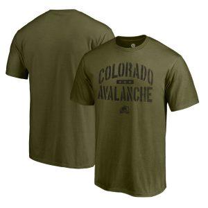 Men's Colorado Avalanche Fanatics Branded Green Camo Collection Jungle T-Shirt