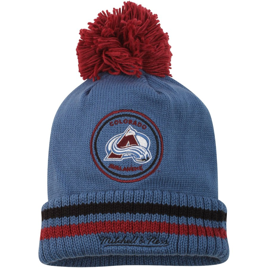 huge selection of 5ae22 55e27 Men s Colorado Avalanche Mitchell   Ness Blue Big Man Hi Five Cuffed Knit  Hat