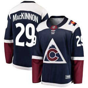Men's Colorado Avalanche Nathan MacKinnon Fanatics Branded Navy Alternate Breakaway Player Jersey