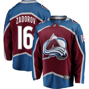 Men's Colorado Avalanche Nikita Zadorov Fanatics Branded Burgundy Breakaway Player Jersey