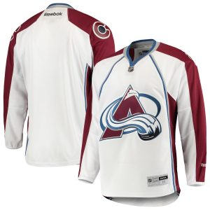 Men's Colorado Avalanche Reebok White 2014 Away Premier Jersey