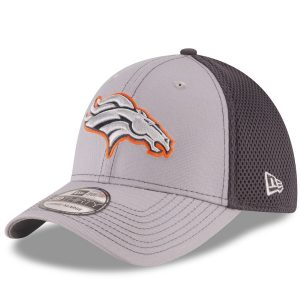 Men's Denver Broncos New Era Gray/Graphite Grayed Out Neo 2 39THIRTY Flex Hat